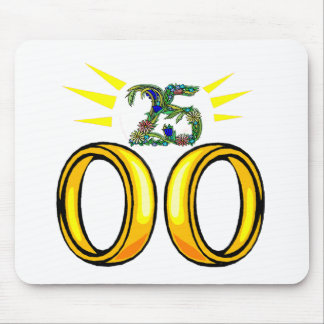 25 wedding anniversary t mouse pad