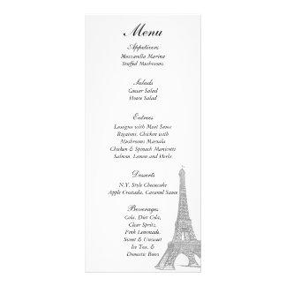 25 Wedding in Paris Menu Tags Rack Card