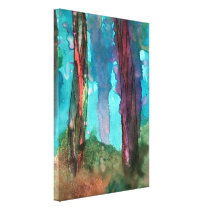 "25"" x 36"" Abstract Watercolor Wrapped Canvas Print"