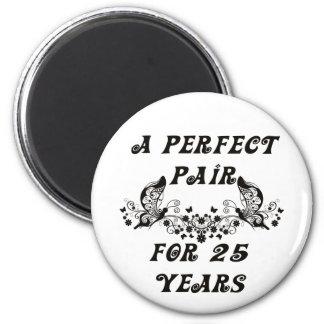 25  Year Anniversary 2 Inch Round Magnet