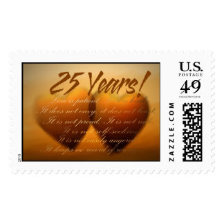25 Year Anniversary Heart Stamps