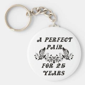 25  Year Anniversary Keychain