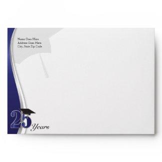 25 Year Class Reunion Envelope envelope