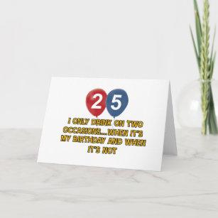 25 Year Old Birthday Designs Card