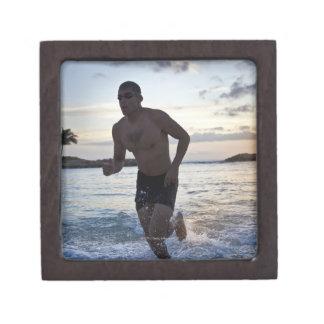 25 year old Hispanic triathlete after swim Gift Box