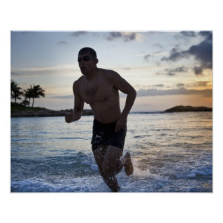 25 year old Hispanic triathlete after swim Poster