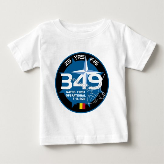 25 Years 349 Nato First Operational F-16 SQN Patch Baby T-Shirt