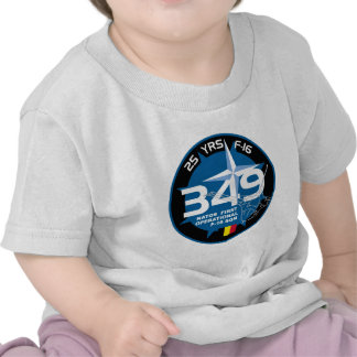 25 Years 349 Nato First Operational F-16 SQN Patch T Shirts