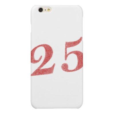 25 years anniversary glossy iPhone 6 plus case