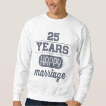25 Years Happy Marriage Sweatshirt