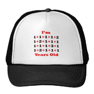 25 Years old! Blk Red Trucker Hat