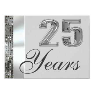 25 Years Silver Anniversary Elegant Invitation