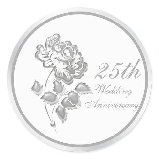 25 Years Silver Peony Anniversary Sticker sticker