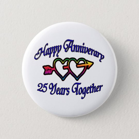 25 Years Together Button