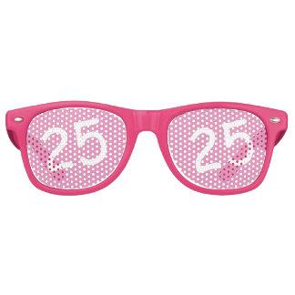 25 yr Bday Pink - 25th Birthday Retro Sunglasses