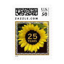 25h Year Anniversary Stamp - Sunflower with Lace