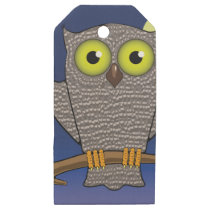 25owl wooden gift tags