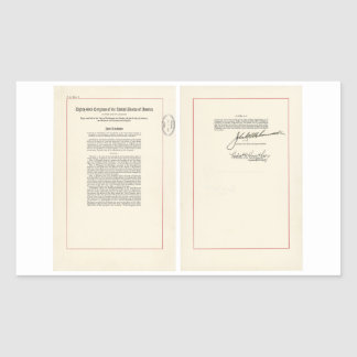 25ta constitución de los E.E.U.U. de la enmienda Pegatina Rectangular