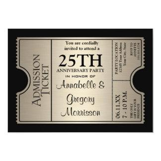 25ta fiesta de aniversario del boda del estilo de anuncios personalizados