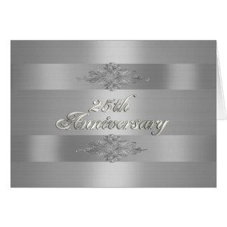 25ta invitación de la fiesta de aniversario de tarjeta de felicitación