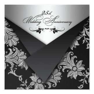 25ta invitación del aniversario de boda de las