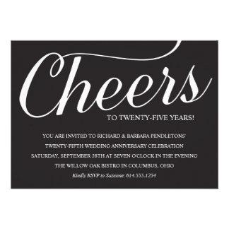 25ta invitación elegante de la fiesta de aniversar