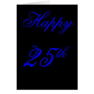 25ta tarjeta de cumpleaños