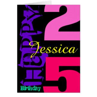 25ta tarjeta de felicitación personalizada del POP