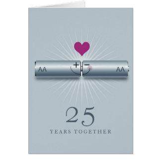 25ta tarjeta linda del aniversario de boda