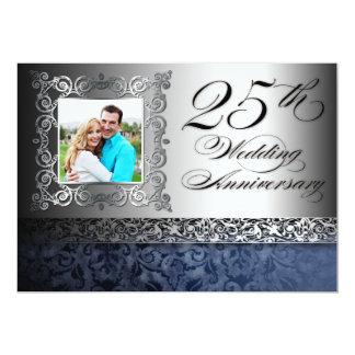 """25tas invitaciones de la foto del aniversario de invitación 5"""" x 7"""""""