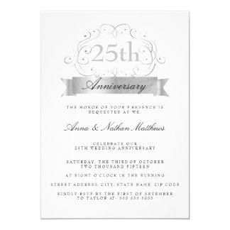 """25tas invitaciones del aniversario de la bodas de invitación 5"""" x 7"""""""