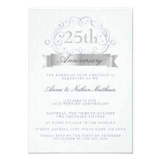 """25tas invitaciones del aniversario del boda de invitación 5"""" x 7"""""""