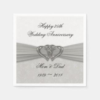 25tas servilletas de papel del aniversario de boda