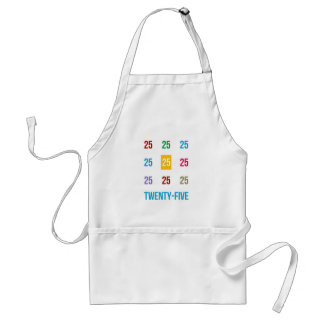 25th 25 Twentyfifth Birthday Anniversary GIFTS xxv Adult Apron