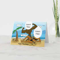 25th/50th Anniversary Beach Greeting Card 1