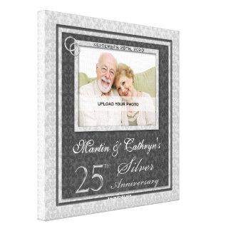 25th Anniversary 12x12 Personalized Photo Canvas