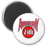 25th anniversary 2 fridge magnets