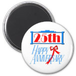 25th anniversary 3 fridge magnet