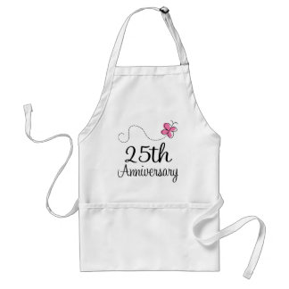 25th Anniversary Adult Apron
