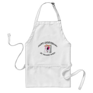 25th. ANNIVERSARY Adult Apron