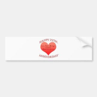 25th. Anniversary Bumper Sticker