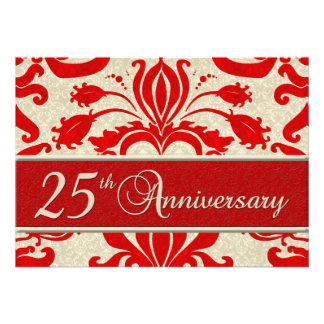 25th Anniversary Business Announcement Red