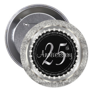 25th Anniversary Button