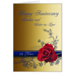 25th Anniversary card,Brother and Sister-in-law