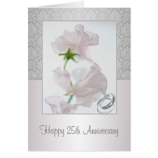 25th Wedding Anniversary Thank You Card With Photo Greeting Cards