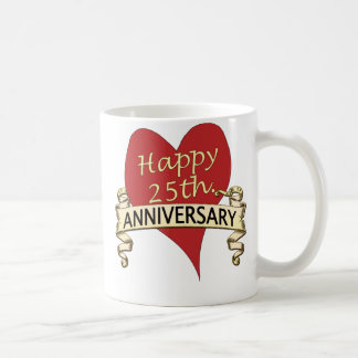25th. Anniversary Coffee Mug