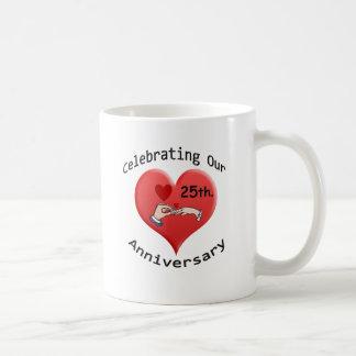 25th. Anniversary Coffee Mug