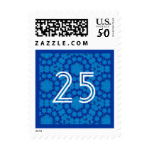 25th Anniversary Colorful Striped Number Postage