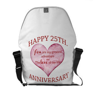 25th. Anniversary Courier Bag