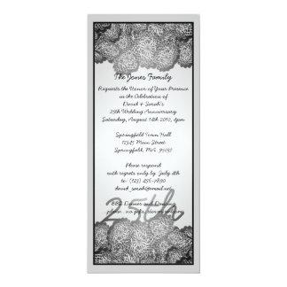 25th Anniversary Custom Invites